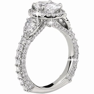 Bella Vaughan for Blue Nile Catarina Oval Diamond Engagement Ring