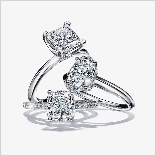 Cut - 10 Tips Engagement Ring with Most Sparkle