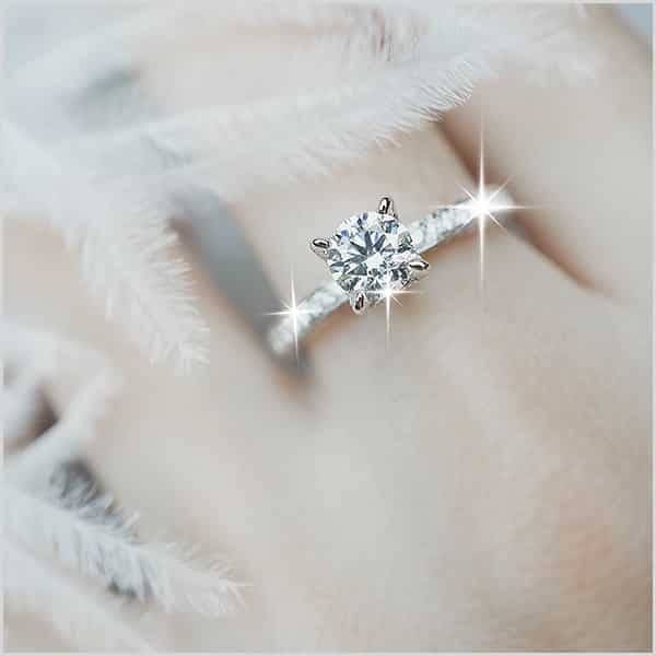 Color - 10 Tips Engagement Ring with Most Sparkle