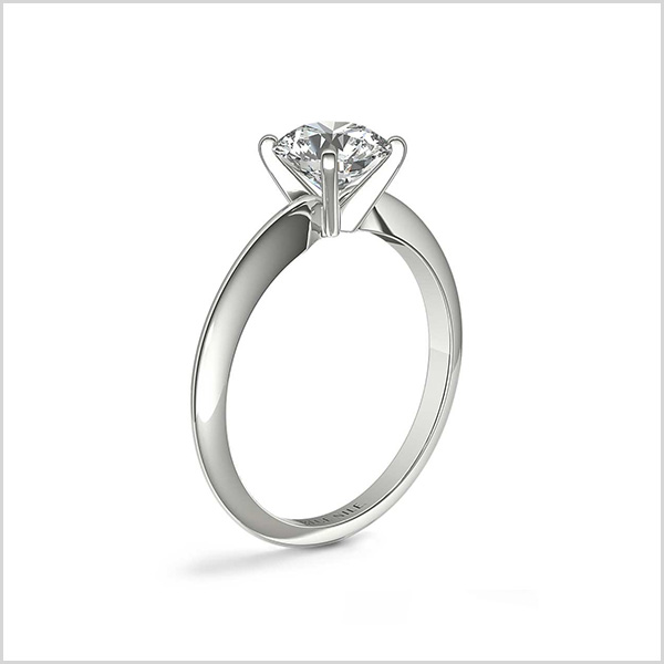 Classic 4 Prong in 14K White Gold Engagement Ring