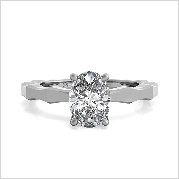 Octagon Solitaire Engagement Ring