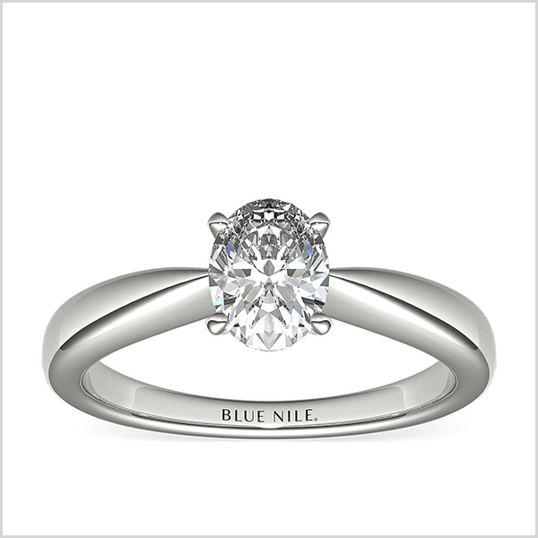 Classic Tapered Solitaire Engagement Ring