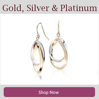 Shop Gold Silver and Platinum Earrings