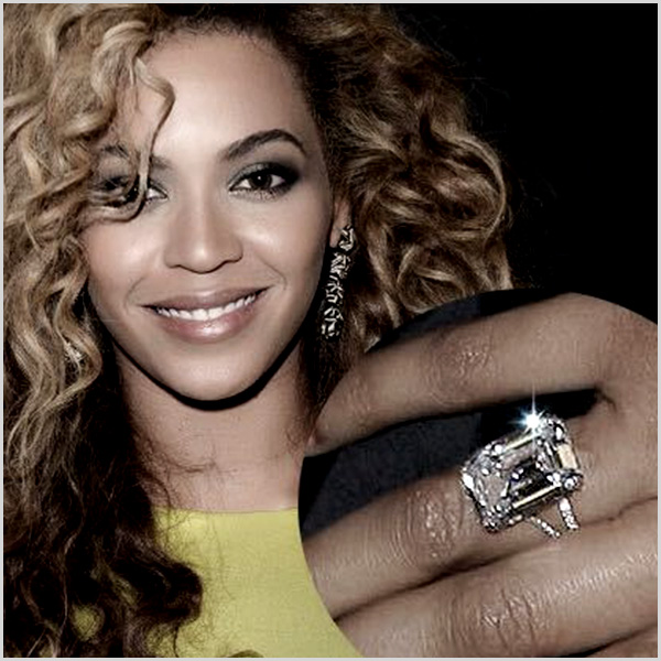 Beyonce Emerald Cut Engagement Ring